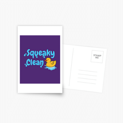 Squeaky Clean Savvy Cleaner Funny Cleaning Gifts Postcard