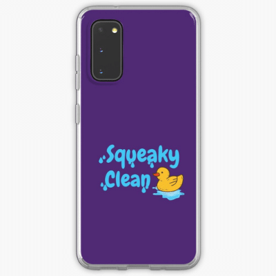 Squeaky Clean Savvy Cleaner Funny Cleaning Gifts Samsung Phone Case