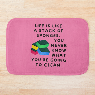Stack Of Sponges Savvy Cleaner Funny Cleaning Gifts Bathmat