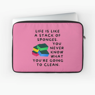 Stack Of Sponges Savvy Cleaner Funny Cleaning Gifts Laptop Sleeve