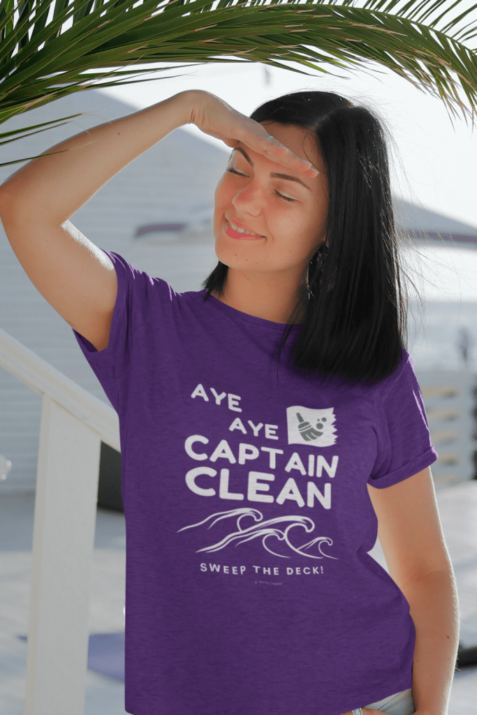 Captain Clean Savvy Cleaner Funny Cleaning Shirts Women's Classic T-Shirt