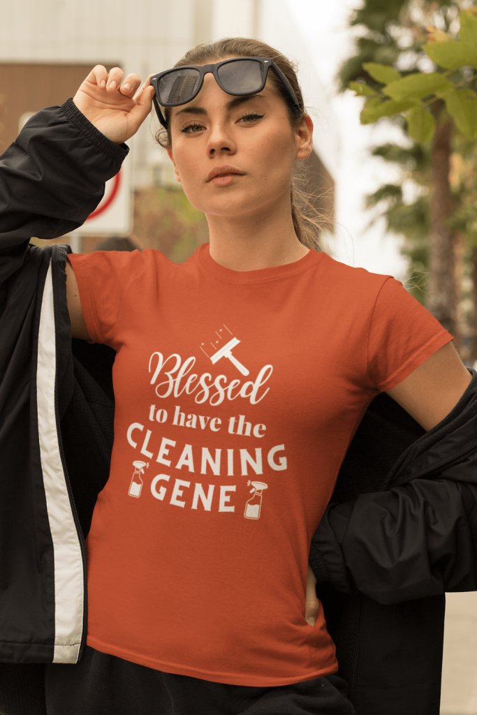 Cleaning Gene Savvy Cleaner Funny Cleaning Shirts Women's Comfort T-Shirt
