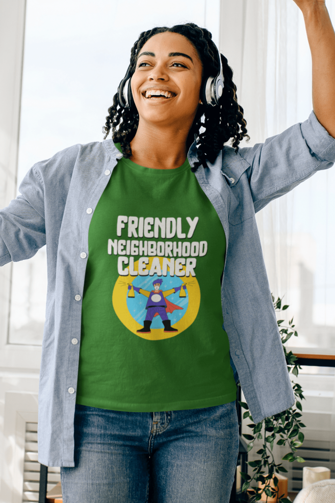 Friendly Neighborhood Cleaner Savvy Cleaner Funny Cleaning Shirts Women's Classic T-Shirt