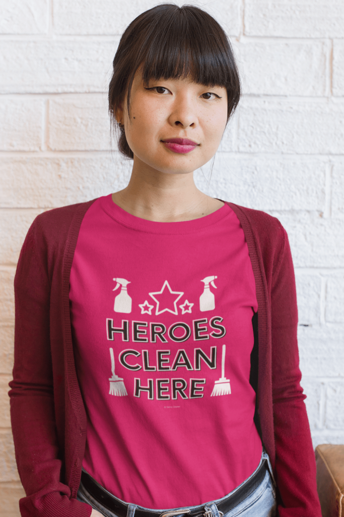 Heroes Clean Here Savvy Cleaner Funny Cleaning Shirts Women's Classic T-Shirt