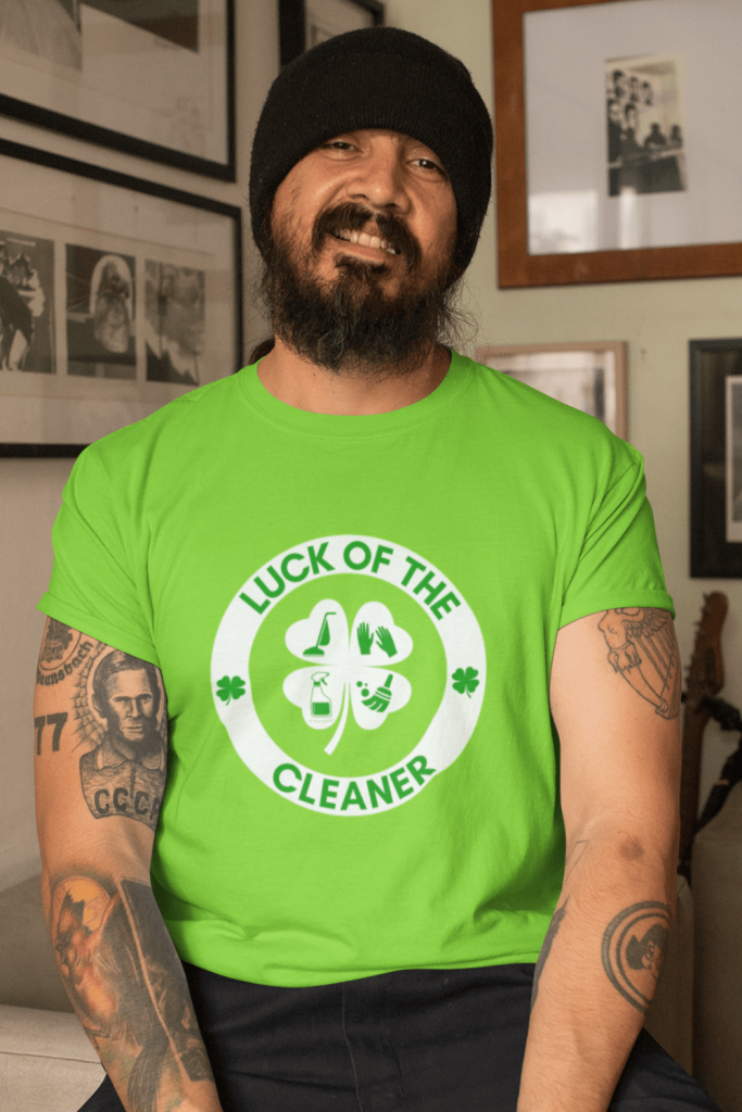 Luck of the Cleaner Savvy Cleaner Funny Cleaning Shirts Classic T-Shirt