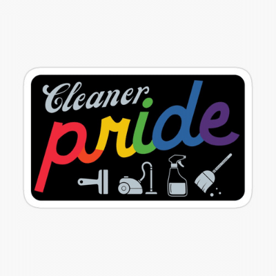 Retro Cleaner Pride Savvy Cleaner Funny Cleaning Gifts Sticker