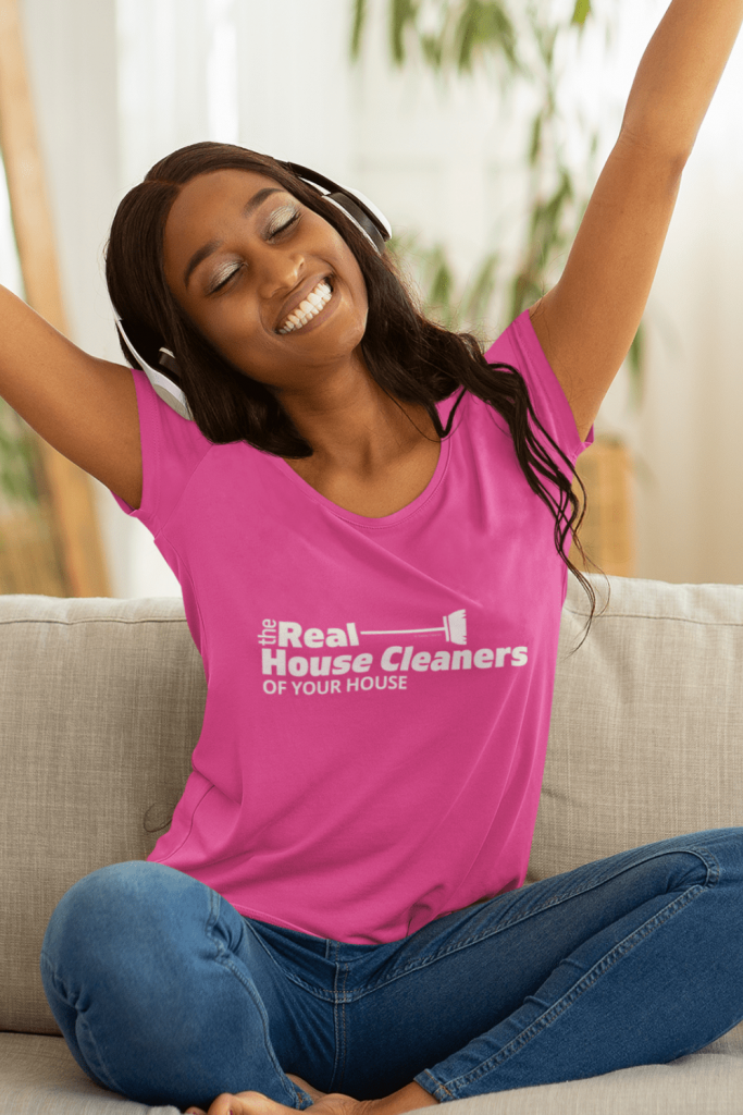 The Real House Cleaners Savvy Cleaner Funny Cleaning Shirts Women's Slouchy T-Shirt