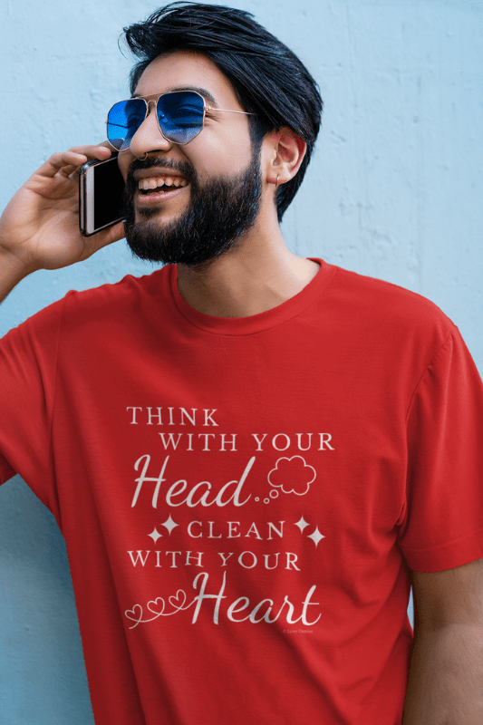 Think With Your Head Savvy Cleaner Funny Cleaning Shirts Comfort T-Shirt