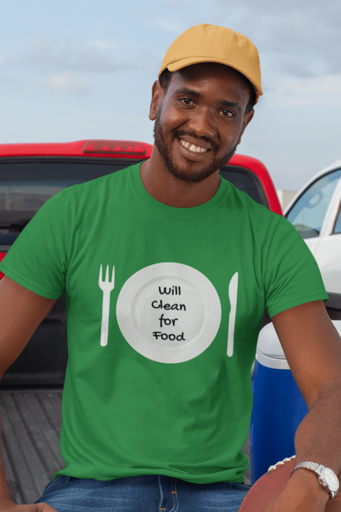 Will Clean for Food Savvy Cleaner Funny Cleaning Shirts Premium T-Shirt