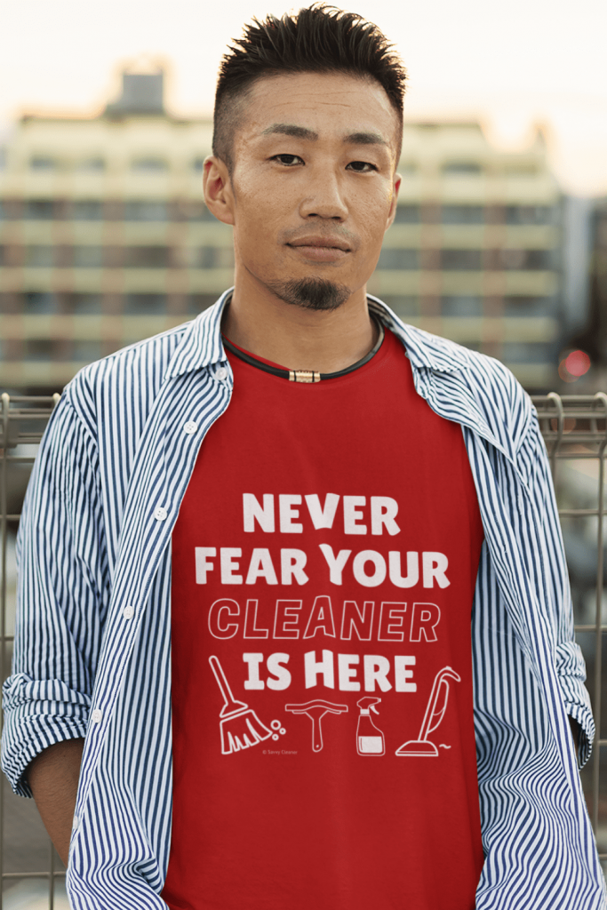 Your Cleaner is Here Savvy Cleaner Funny Cleaning Shirt Classic T-Shirt