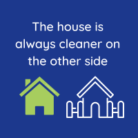 297 House is Always Cleaner Savvy Cleaner Funny Cleaning Shirts B