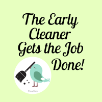 307 The Early Cleaner Savvy Cleaner Funny Cleaning Shirts A