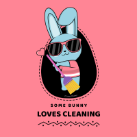 316 Some Bunny Loves Cleaning Savvy Cleaner Funny Cleaning Shirts A