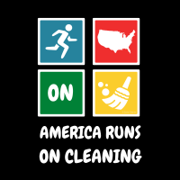 321 America Runs on Cleaning Savvy Cleaner Funny Cleaning Shirts B