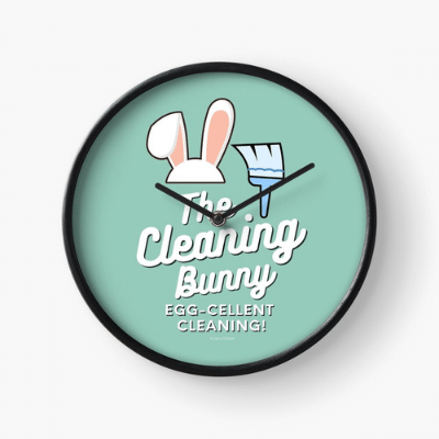 Cleaning Bunny Savvy Cleaner Funny Cleaning Gifts Clock