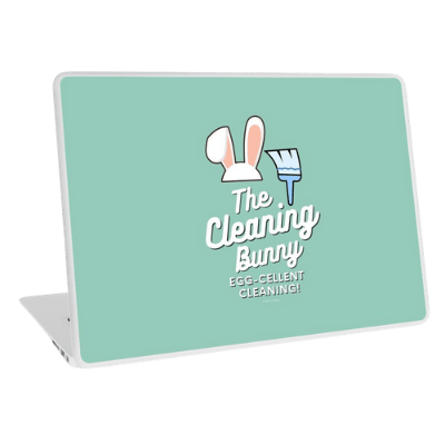 Cleaning Bunny Savvy Cleaner Funny Cleaning Gifts Laptop Skin