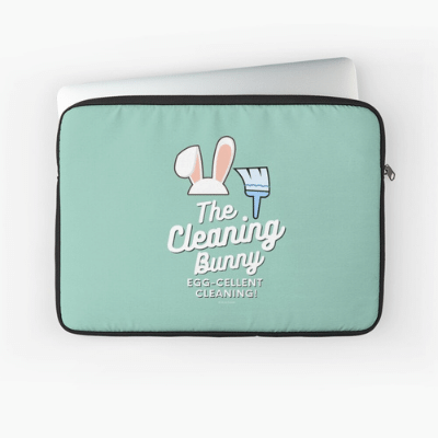 Cleaning Bunny Savvy Cleaner Funny Cleaning Gifts Laptop Sleeve