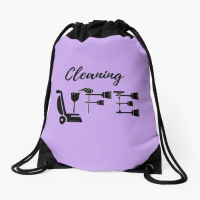Cleaning Life Savvy Cleaner Funny Cleaning Gifts Drawstring Bag
