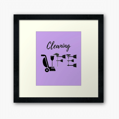Cleaning Life Savvy Cleaner Funny Cleaning Gifts Framed Art Print
