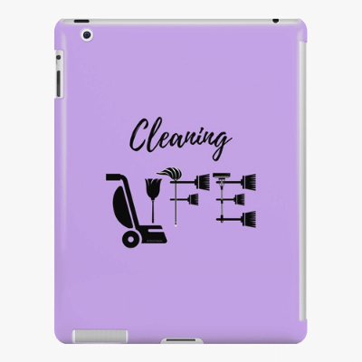 Cleaning Life Savvy Cleaner Funny Cleaning Gifts Ipad Case