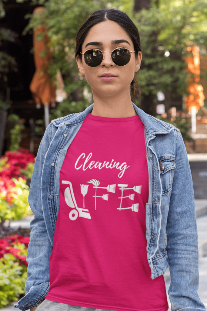 Cleaning Life Savvy Cleaner Funny Cleaning Shirts Women's Classic T-Shirt