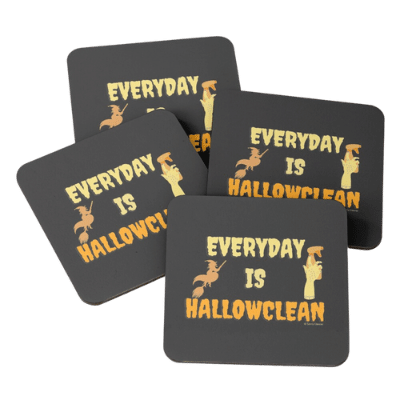 Everyday is Hallowclean Savvy Cleaner Funny Cleaning Gifts Coasters