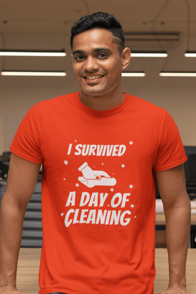 Survived a Day of Cleaning Savvy Cleaner Funny Cleaning Shirt Classic T-Shirt
