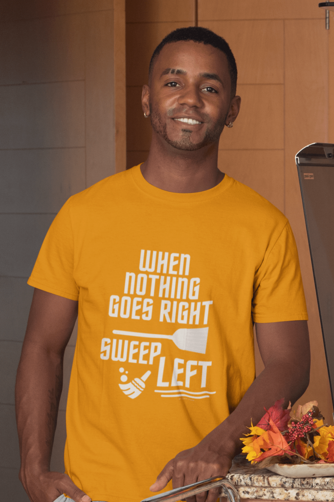 Sweep Left Savvy Cleaner Funny Cleaning Shirt Classic T-Shirt