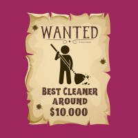 333 Wanted Poster Savvy Cleaner Funny Cleaning Shirts A