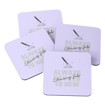 Always Say Yes Savvy Cleaner Funny Cleaning Gifts Coasters