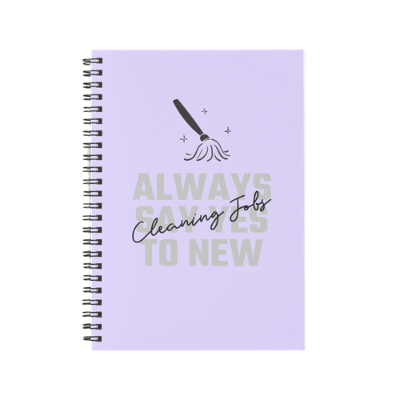 Always Say Yes Savvy Cleaner Funny Cleaning Gifts Spiral Notebook