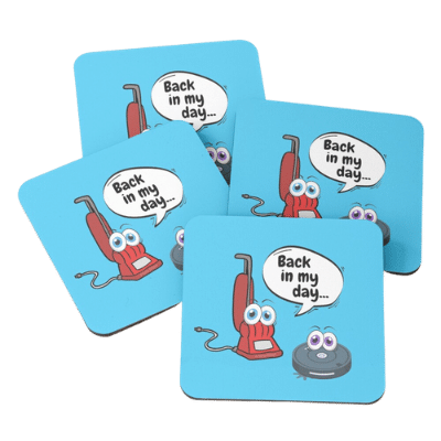 Back In My Day Savvy Cleaner Funny Cleaning Gifts Coasters