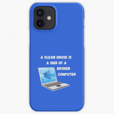 Broken Computer Savvy Cleaner Funny Cleaning Gifts Iphone Case