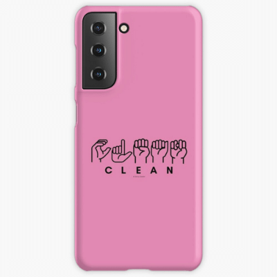 Clean Sign Language Savvy Cleaner Funny Cleaning Gifts Samsung Phone Case