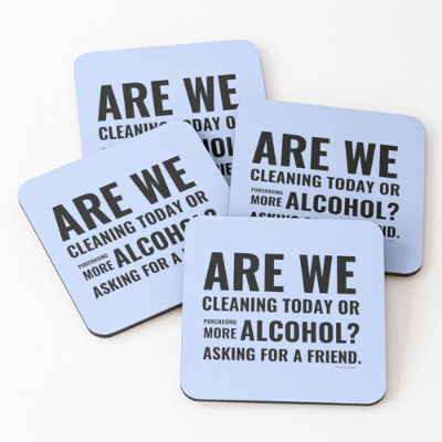 Cleaning Today Savvy Cleaner Funny Cleaning Gifts Coasters