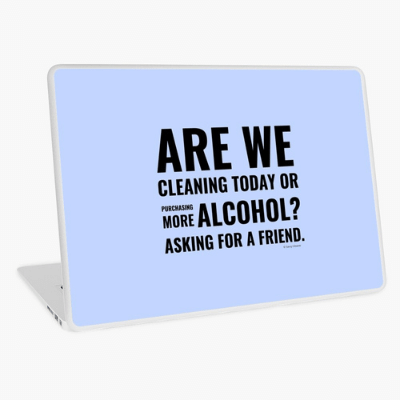 Cleaning Today Savvy Cleaner Funny Cleaning Gifts Laptop Skin