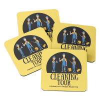 Cleaning Tour Savvy Cleaner Funny Cleaning Gifts Coasters