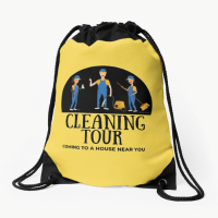 Cleaning Tour Savvy Cleaner Funny Cleaning Gifts Drawstring Bag