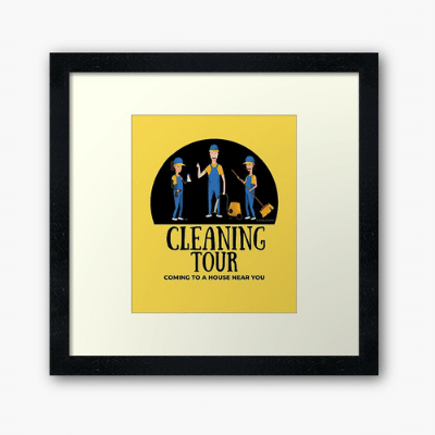 Cleaning Tour Savvy Cleaner Funny Cleaning Gifts Framed Art Print