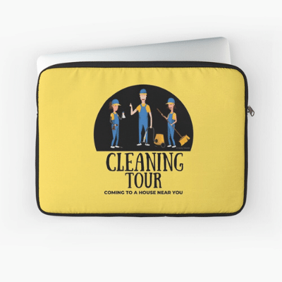 Cleaning Tour Savvy Cleaner Funny Cleaning Gifts Laptop Sleeve