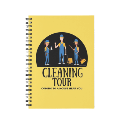 Cleaning Tour Savvy Cleaner Funny Cleaning Gifts Spiral Notebook