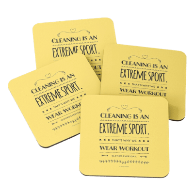 Cleaning is An Extreme Sport Savvy Cleaner Funny Cleaning Gifts Coasters