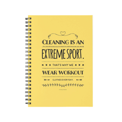 Cleaning is An Extreme Sport Savvy Cleaner Funny Cleaning Gifts Spiral Notebook