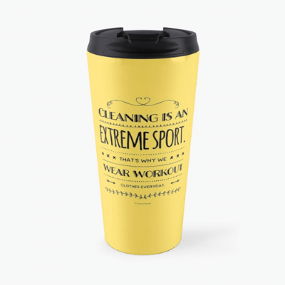 Cleaning is An Extreme Sport Savvy Cleaner Funny Cleaning Gifts Travel Mug