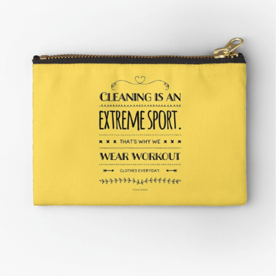 Cleaning is An Extreme Sport Savvy Cleaner Funny Cleaning Gifts Zipper Pouch
