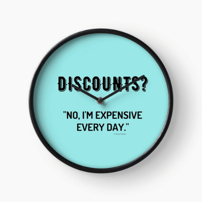 Discounts Savvy Cleaner Funny Cleaning Gifts Clock