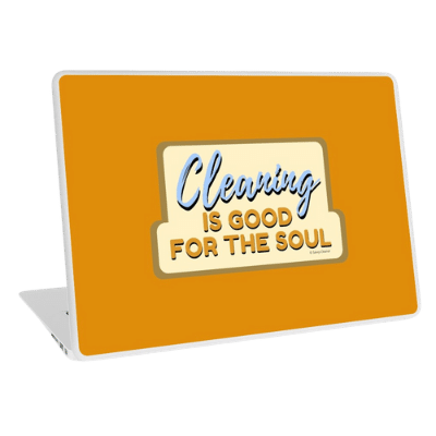 Good For The Soul Savvy Cleaner Funny Cleaning Gifts Laptop Skin
