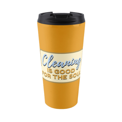 Good For The Soul Savvy Cleaner Funny Cleaning Gifts Travel Mug