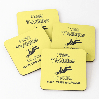 I Took Training Savvy Cleaner Funny Cleaning Gifts Coasters