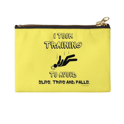 I Took Training Savvy Cleaner Funny Cleaning Gifts Zipper Pouch